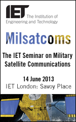 Welcome to IET Milsatcoms 2013, a unique technical seminar on the future of the UK military satellite communications. Nowhere else you will find such a good balance of relevant topics presented in just one day by key figures in the defence sector.