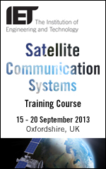 The 2013 IET Satellite Communication Systems Course will be held between 15 - 20 September 2013 at Milton Hill House Hotel, Abingdon, Oxfordshire.